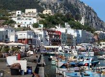 The town of Capri the Italian Island of Capri stock image