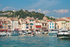 The town Cassis, France Royalty Free Stock Photo