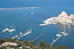 The town of Castellammare del Golfo Royalty Free Stock Photography