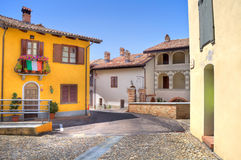 Town of Castiglione Falletto. Northern Italy. Stock Photos