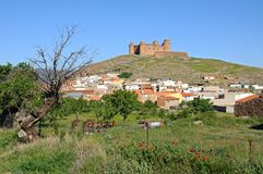 Town and Castle, Lacalahorra, Spain. Stock Images
