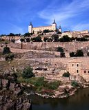 Town and castle, Toledo, Spain. Stock Photography