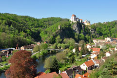 Town and castle Vranov nad Dyji in Czech republic Royalty Free Stock Photo