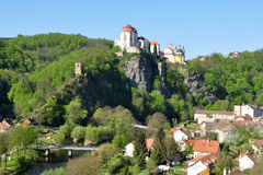 Town and castle Vranov nad Dyji in Czech republic Royalty Free Stock Photography