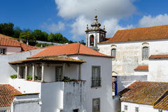 Town within castle walls, Obidos, Portugal Stock Photography