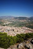 Town and Cathedral, Jaen, Spain. Royalty Free Stock Photo