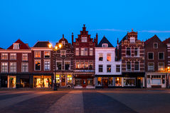 Town Center of Delft, The Netherlands Royalty Free Stock Photos