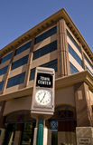 Town Center--Mesa Arizona. Town Center clock on main street in the downtown arts Royalty Free Stock Images
