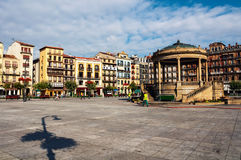 Town center square of Pamplona, Spain in the morning Stock Image