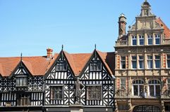 Town centre buildings, Shrewsbury. Royalty Free Stock Photography
