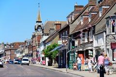 Town centre shopping street, Wareham. Royalty Free Stock Photos