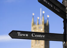 Town Centre Sign Stock Photography