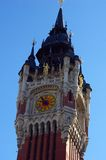 Town centre tower of Calais. Royalty Free Stock Images