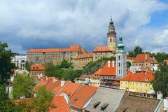 The Town of Cesky Krumlov. View of the Cesky Krumlov (Czech Republic, Eastern Europe Royalty Free Stock Photo