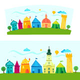 Town, children's book illustration Royalty Free Stock Image