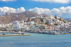 The town Chora (Hora) on the Naxos island in the Aegean Sea. Royalty Free Stock Image