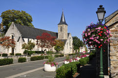 Town and church at Solesmes in France Royalty Free Stock Photography