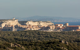 The town and citadel of Bonifacio in south Corsica Stock Photos