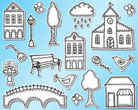 Town or city design elements Royalty Free Stock Images