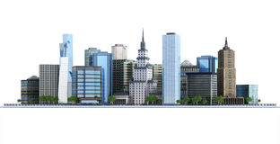Town and city Royalty Free Stock Photo
