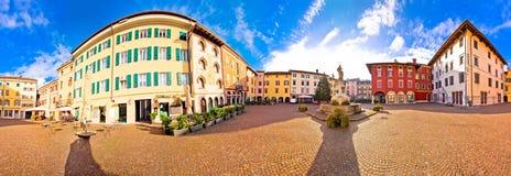 Town of Cividale del Friuli colorful Italian square panoramic vi Stock Image