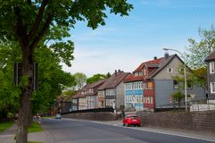 Town of Clausthal-Zellerfeld in Germany. Clausthal-Zellerfeld Germany, May 28. 2017: Town of Clausthal-Zellerfeld in Germany Royalty Free Stock Photo