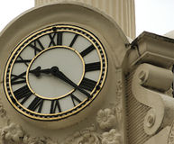 Town Clock. Stone surround, old town hall clock Stock Photography