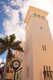 Town clock of Philipsburg, St. Maarten, Caribbean Royalty Free Stock Photos