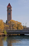 Town Clock Tower Spokane, WA Stock Photography