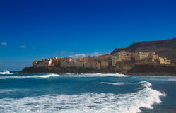 A town on the coast. A small town on the coast of the Atlantic ocean Royalty Free Stock Photos