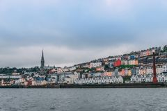 The town of Cobh , which sits on an island in Cork city's harbour, as seen from the sea. It's known as the Titanic's last port of call in 1912 Royalty Free Stock Image