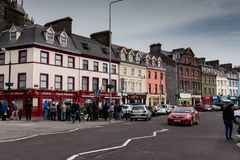 The town of Cobh, which sits on an island in Cork city's harbour. It's known as the Titanic's last port of call in 1912. April 18th, 2018, Cobh, county Stock Photography