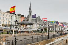 The town of Cobh, which sits on an island in Cork city's harbour. It's known as the Titanic's last port of call in 1912. April 18th, 2018, Cobh, county Royalty Free Stock Images