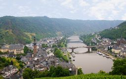 Town of Cochem with castle Royalty Free Stock Image