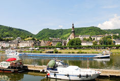 Town Cochem on Moselle river in Germany Stock Image