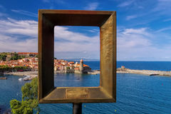 The town Collioure in France Stock Images