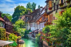 Town of Colmar. Old Town of Colmar, France royalty free stock images