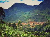 Town in Colombia. Antioquia Colombia Jardin royalty free stock photo