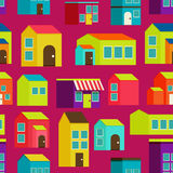 Town concept background pattern seamless Stock Photography