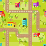 Town concept background pattern seamless Stock Image