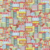 Town concept background pattern seamless Royalty Free Stock Image