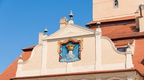 Town crest. Crest of a medieval town in Transylvania, Romania Stock Image