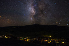 The Town of Crested Butte At Night Royalty Free Stock Photos