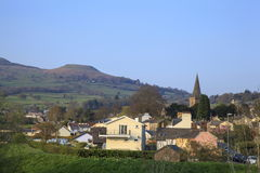 The Town of Crickhowell and the Black Mountains Stock Photography
