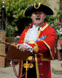Town Crier announcing the news Stock Image