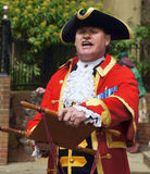 Town Crier announcing the news Stock Images