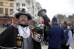 A Town Crier, Ostend Belgium Royalty Free Stock Photo
