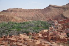 Town in dades gorge Morocco Royalty Free Stock Images