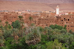 Town in Dades Valley Royalty Free Stock Image