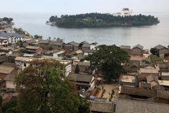 The town of Dali in Yunnan double gallery Stock Image